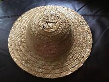 Large Doll Straw Hat 11.5� #52/0