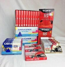 Lot of 53 Blank Audio Cassette Tapes Sony, Maxell, Memorex Cassette Sealed NEW