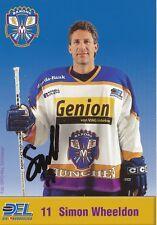 Simon Wheeldon  München Barons  Eishockey Autogrammkarte signiert 357735