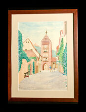 Original Water Color Painting of  RIQUEWIHR - A beautiful village in France!