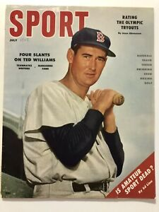 July 1956 Sport Magazine Ted Williams Red Sox  Ernie Banks Cubs No Label
