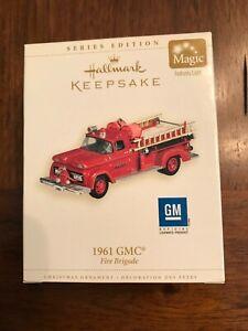 Hallmark Keepsake Ornament 1961 GMC Fire Truck 2006