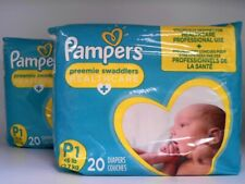 Pampers PREEMIE Swaddlers Diapers Size P1 (<6lb.) 40 Diaper Pack