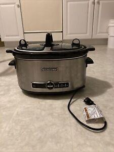 KitchenAid KSC6222 Architect Slow Cooker 6 quart Dual Lid