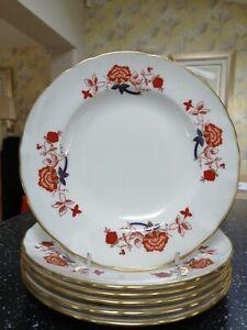 6 x Royal Crown Derby BALI salad plates