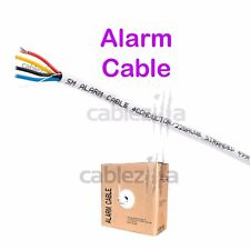 22/4 Gauge AWG 1000ft Alarm Security Wire Cable Stranded Conductor Unshielded