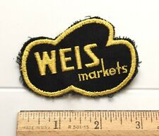 Weis Markets Grocery Store Supermarket Yellow Black Embroidered Patch Badge