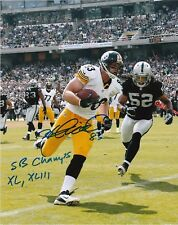 HEATH MILLER  PITTSBURGH STEELERS  SB CHAMPS XL, XLIII  ACTION SIGNED 8x10