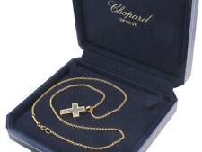 Chopard Anhänger HAPPY DIAMONDS Kreuz Kette 750er Gelbgold Box