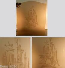 PANNEAU ART DECO EN VERRE ROSE GRAVE  1940 DECORS LONDRES-NY-PARIS