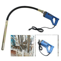 800W Hand Held Electric Concrete Vibrator Construction Tool Air Bubble Remover