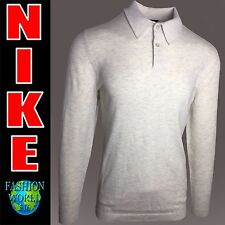 Nike Men's Size Small Golf Wool Polo Sweater 811554 141 MSRP $150