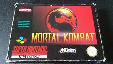 Mortal Kombat Mortal Kombat Snes En Caja Con Manual