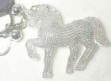 CLEAR Unicorn HORSE Keyring Cushion Handbag Charm Balls Diamante Charm NEW UK