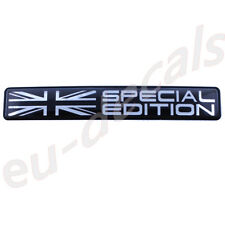 "Union Jack flag Special Edition Black Chrome badge 3D Decal domed  5.1"" 130mm"