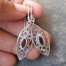 Garnet Stone Handcrafted Earrings