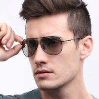 Photochromic Polarized Sunglasses Transition Lens Eyewear Men Pilot Glasses