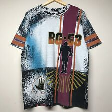 Vintage 90S Body Glove All Over Print T Shirt Football BG-53 Surf Beach Mens L