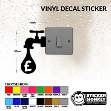 Money Tap Light Switch / Wall / Socket - Vinyl Decal Sticker - Any Colour!