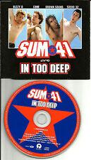 SUM 41 In too Deep  w/ ENHANCED VIDEO Europe Made PROMO DJ CD Single USA SELLER