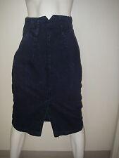 Vintage 80s Women''s Clothing Jean Skirt Pencil Hobble High Waist Blue Size 5
