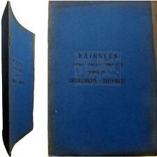 Catalogue collection Faïence françaises étrangères Lyon 1923 terre cuite Chinard