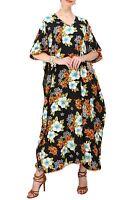 Miss Lavish Women Kaftan Tunic Kimono Dress Summer Beach Cover Up Plus Size Maxi