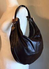 Gucci Brown Leather Hobo Handbag Medium Knight Shield Bow Shoulder Tote Bag
