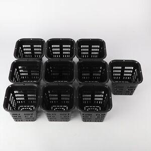 Hydroponic Mesh Pot Net Cup Basket Hydroponic Aeroponic Plant Grow Clone x10