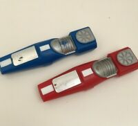 VINTAGE PALITOY RICOCHET RACERS SPARE CARS X 2 RED & BLUE