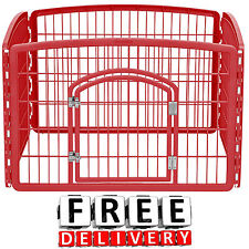 New listing Dog Pen Kennel Playpen Outdoor Indoor Small Pet Puppy Exercise Enclosure Cage