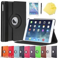 ★Edle 360° Apple iPad Air 2 Schutz Hülle+Folie Tasche Smart Cover Case Etui 10F