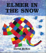 ELMER IN THE SNOW - DAVID McKEE - 1999 1st Edn HB DJ - ELMER PATCHWORK ELEPHANT