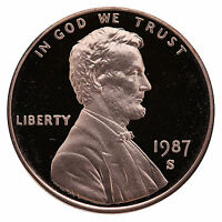 1987-S Lincoln Memorial Cent Penny Gem Proof US Mint Coin Uncirculated UNC