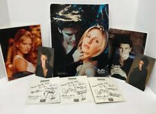BUFFY THE VAMPIRE SLAYER CAST SIGNED PHOTO SARAH M GELLAR ALYSON HANNIGAN 8 PCS