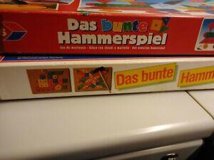 2 Kästen das bunte Hammer-Spiel,2 Hammer,2 Anleitungen, Holz und Plastik Nägel
