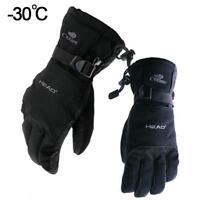 -30℃ Winter Warm Ski Gloves Waterproof Snowboard Motocross Head Gloves Men Women