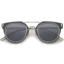 Lunettes de soleil gris argent pour femme 100% UV