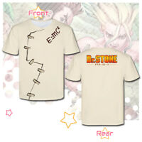 Dr. Stone Senku Cosplay impression Anime Man Women Short Sleeve T-Shirt Tops Tee