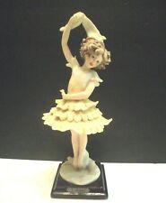 "Giuseppe Armani 10"" Tall Ballerina Figurine Bonded Porcelain 1986 Italy"