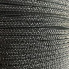 1/4 x 100 ft Pre-Cut Double Braid-Yacht Braid polyester rope hank. Black.