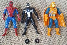 "Venom, Spider-Man & Hobgoblin Projectors x3 Toy Biz 1994 6"" Figures & 2 Reels"