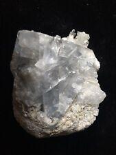 "Light Blue Celestite Crystal Cluster 2.5"" x 2"" x 1"""