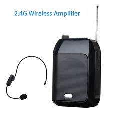 T9 Wired Voice Amplifier Loudspeaker +2.4G Wireless Mic Speaker 7.4V for Meeting