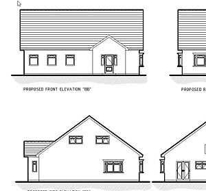 UPDATED FOR 2020 - NEW BUNGALOW CAD PLANS - PLANNING & BUILDING REGULATIONS