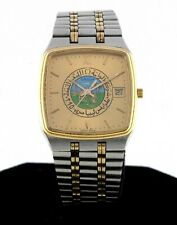 Vintage Omega 1430 Seamaster Quartz Watch with Arabic Dial with Enamel Image