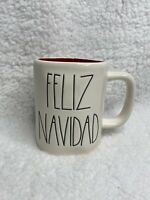 New Rae Dunn FELIZ NAVIDAD Coffee White Mug Red Interior Christmas 2020