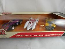 SPEED RACER 3 PACK, SHOOTING STAR, MACH 5, SNAKE OILER, 1/55 ,2008