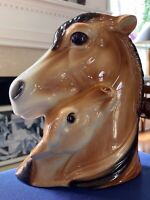 ROYAL COPLEY Vintage Horse & Foal Colt Head Vase/Planter, Unique, Very Nice,Rare