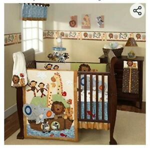 Lambs and Ivy ss noahs ark crib bed and nursery set 13+ pieces